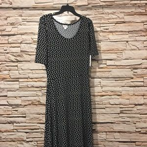 LulaRoe Ana L NWT black w polka dots